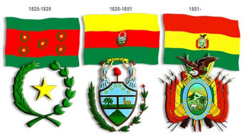 The flags of Bolivia