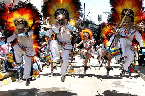 Tobas Dance at the Oruro Carnival