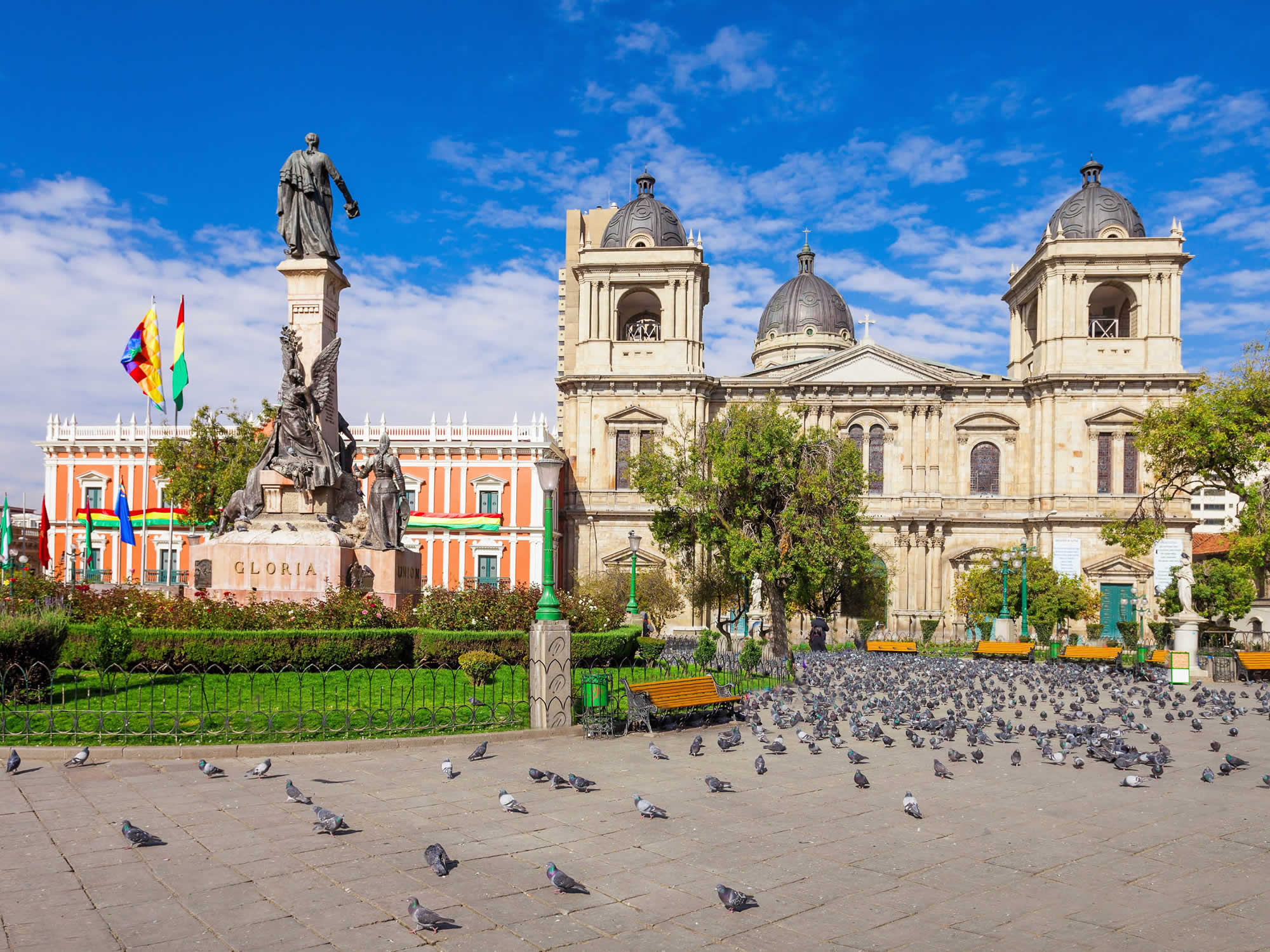 Cathedral and Plaza Murillo