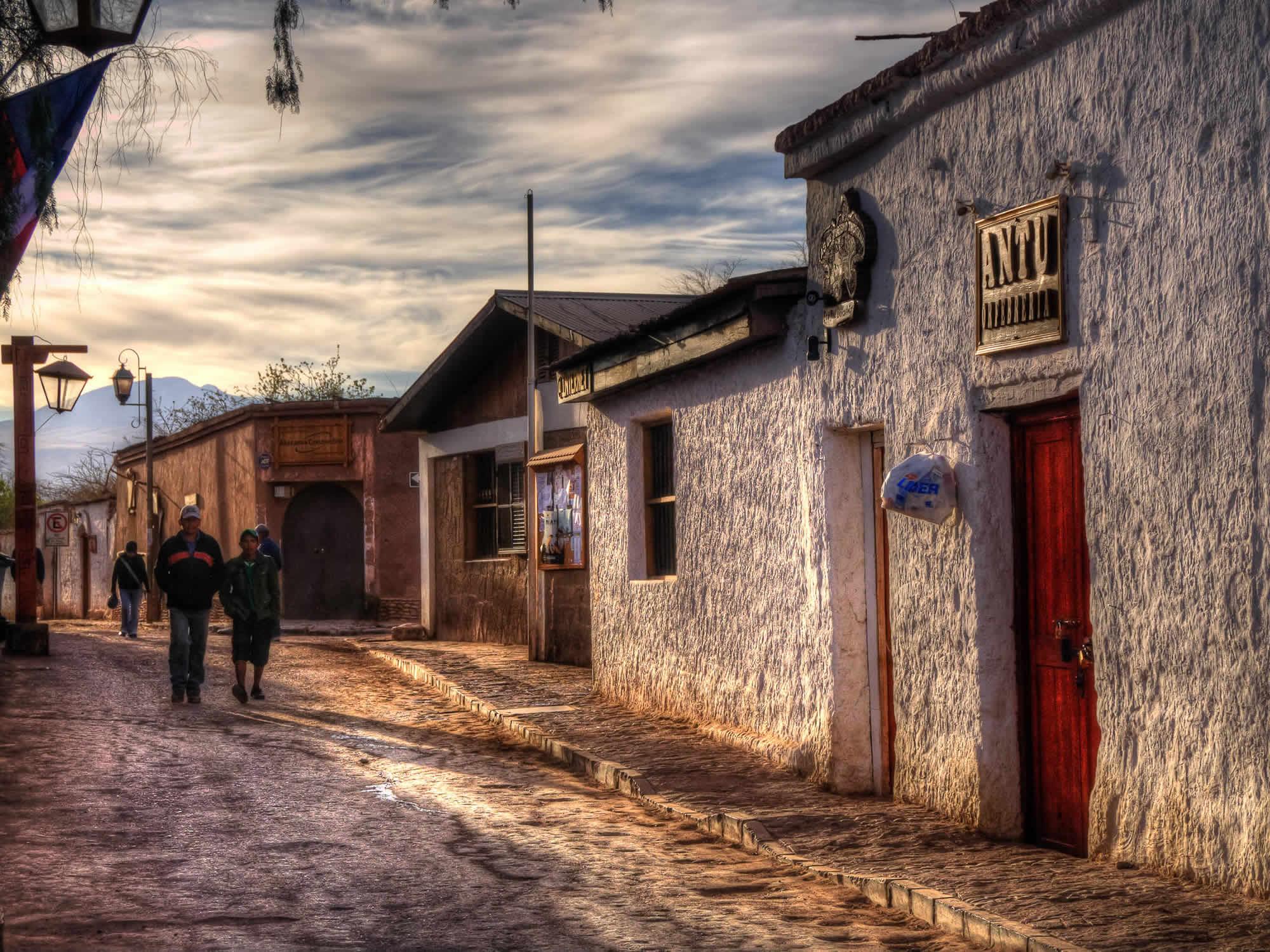Town of San Pedro de Atacama in Chile