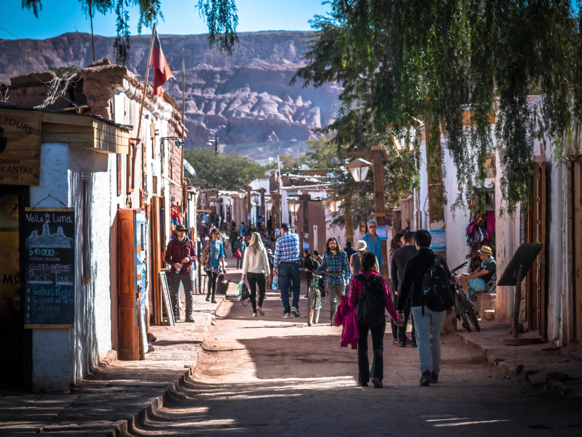 Town of San Pedro de Atacama in Chile
