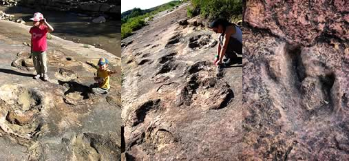 Wayllas Mountain and the Dinosaur footprints