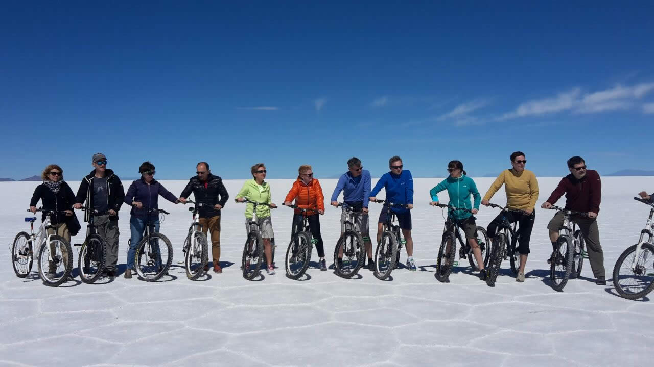 Uyuni Salt Flats - Biking - Sunset and Stargazing, Full Day