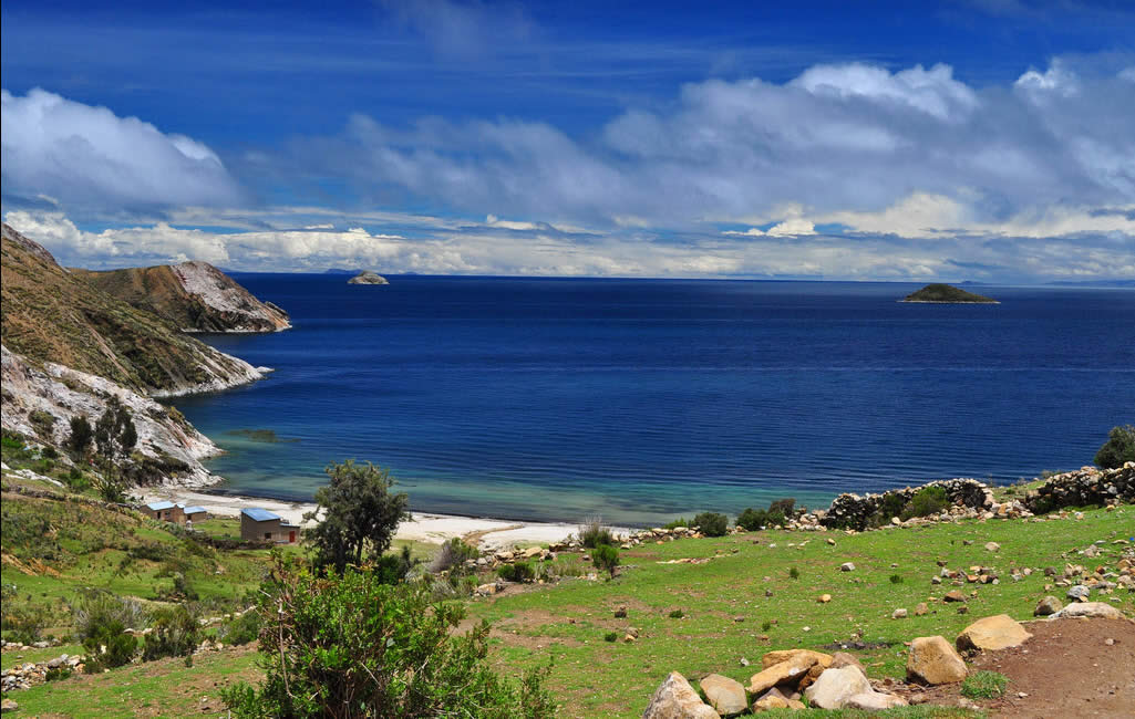 Lake Titicaca blue