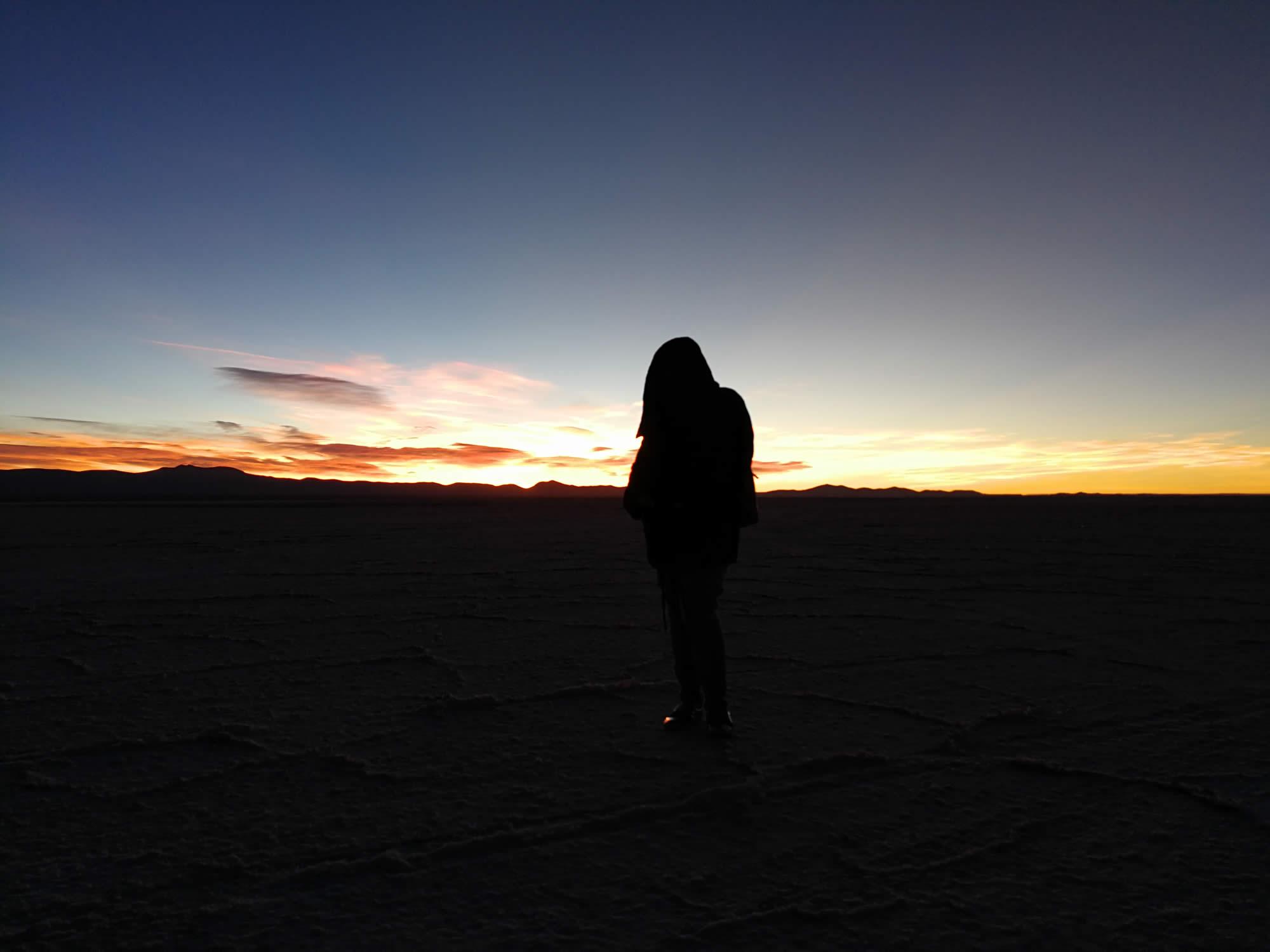 Twighlight reflections and Tunupa Vulcano  - 2 Days / 1 Night, Uyuni