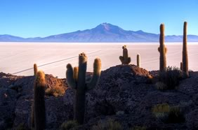 Uyuni Salt Flat and Tunupa Volcano