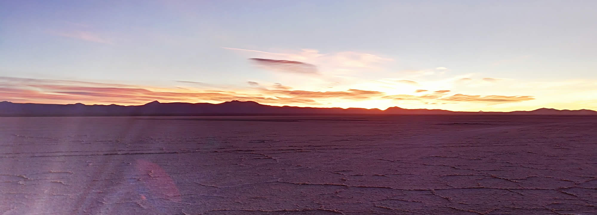 See the Sun rise over the greatest salt flat in the world!