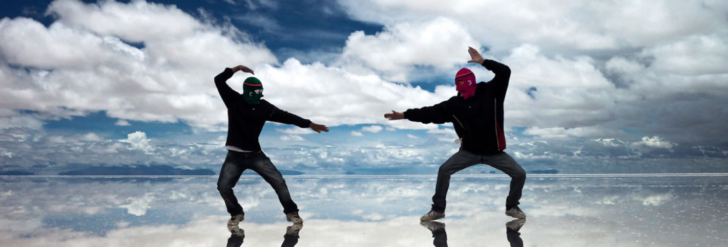 Enjoy the reflections in the Uyuni Salt Flat even during the dry season!